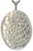 sterling reptile 20 oval locket