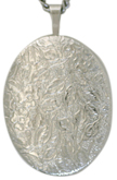 sterling 20 oval floral locket