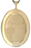 Purrfect Pals 20 oval locket
