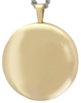 L1000 plain gold 22mm round locket