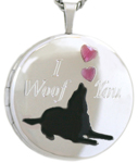 L1003 22 round woof pet locket