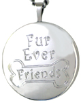 sterling furrever friends pet locket