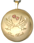 L1007 Love Birds round locket