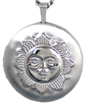 sterling 22mm round sun locket
