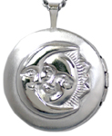 sterling back of locket moon