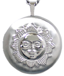 L1016 sun front and moon back locket