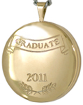 L1021 22mm round graduate locket