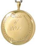 L1022 class of graduate round locket