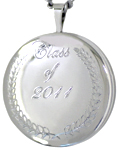 sterling graduate round locket