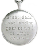 sterling bird locket with saying on back