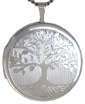 L1054 22mm round tree of life locket