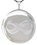 L1056 20mm round locket with infinity