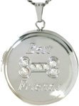 L1060 22 round dog bone locket