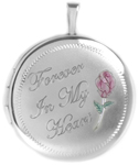 L1064 22mm round cremation locket