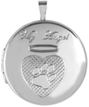 L1090 sterling my angel pet cremation locket