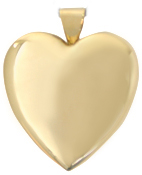 gold 25mm heart locket