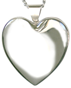 sterling 25mm heart locket
