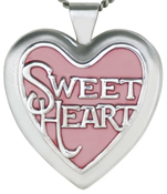 sweetheart heart locket with color
