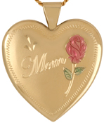 gold Mom 25mm heart locket