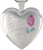 L6009 Mom with Rose heart locket