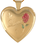 L6010 Love with Rose 25 heart locket