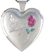 sterling Love 25mm heart locket