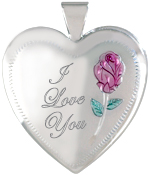 L6011 I Love You 25mm heart locket