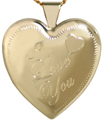 L6012 gold I Love You heart locket