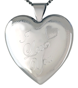 L6012 I Love You heart locket