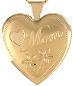 L6013 Mom with flowers 25 heart locket