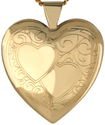 L6017 2 heart 25mm heart locket