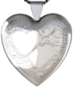 sterling double heart locket