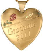 25mm heart graduate locket
