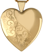sterling 25 heart locket with leaves