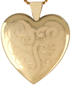 L6022 25 heart locket with swirls