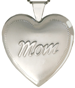 sterling embossed 25mm heart locket