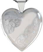 L6043 scrolled design 25 heart locket