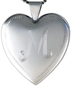 L6049  25 heart lockets with initials