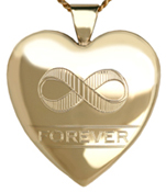 L6055 infinity symbol heart locket
