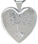 L6056 embossed tree of life locket