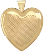 L6058 grid heart 25mm heart locket