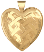 L6060 25mm heart with weave pattern