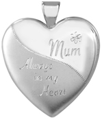 25mm heart locket with mom