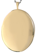 L9000 25mm gold oval locket