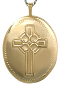 L9001 25 oval celtic cross locket