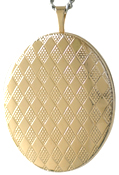 L9007 25 oval locket with harlequin
