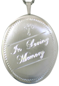 sterling 25 oval loving memory locket