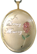 L9014 locing memory oval locket
