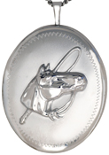 L9018 sterling horse locket