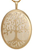 L9034 Tree of Life 25mm oval locket